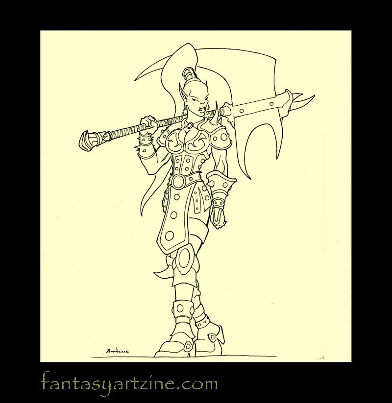 How to Draw Women Warriors