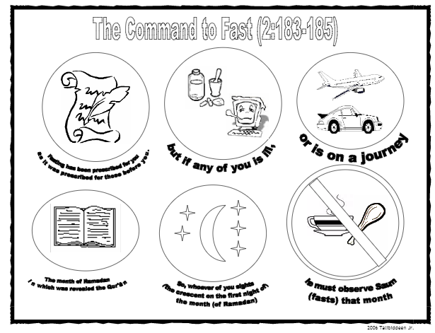 Command To Fast Ramadan Coloring Page ...