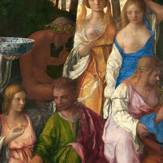 """Dei di Bellini: Gea, Nettuno e il """"pomo codogno""""."""