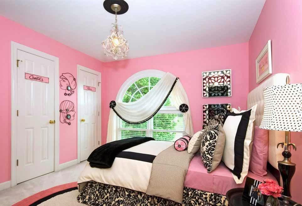 Desain interior kamar anak perempuan