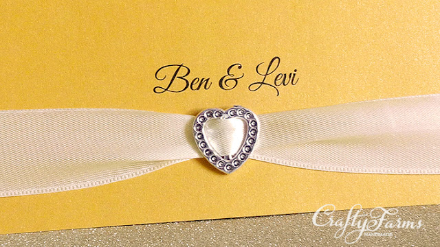 Royal Gold Wedding Invitation Card with Rhinestone KL Malaysia