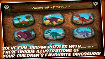 Free Dinosaur Jigsaw Puzzle by Wombi Apps