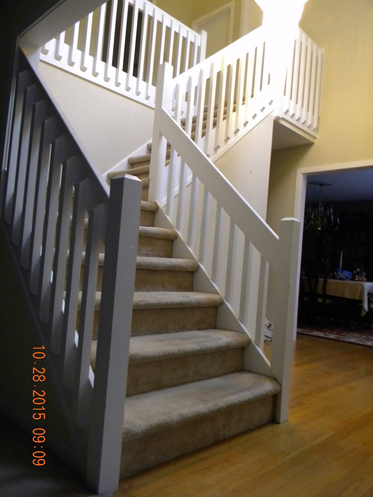 Wood stairs and rails and iron balusters custom stair for Custom stair