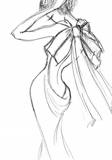 Dibujos de mujeres con vestidos bonitos