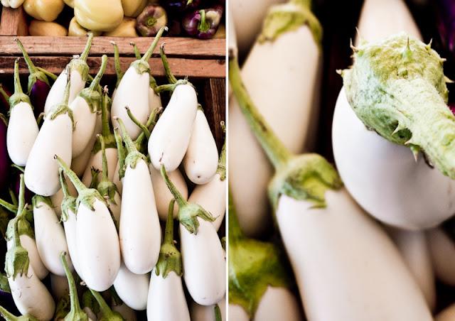 Farmer's Market, Eggplants, Aubergines