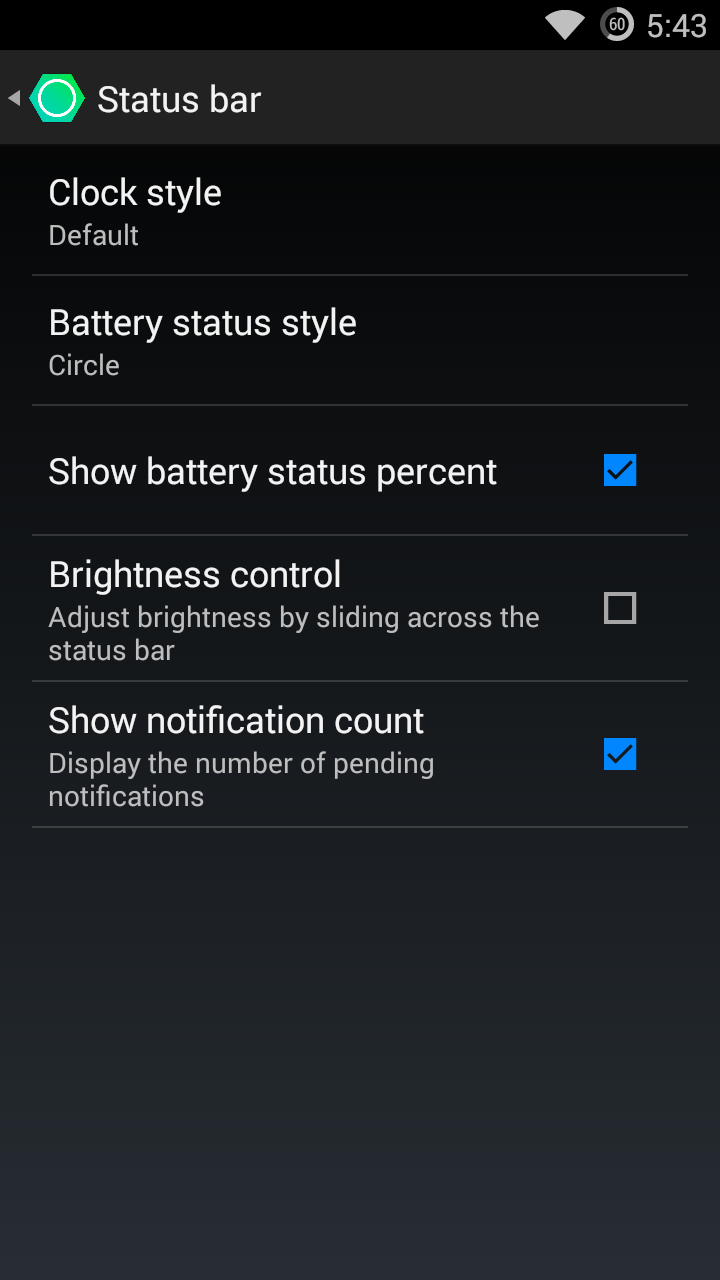yureka status bar customization