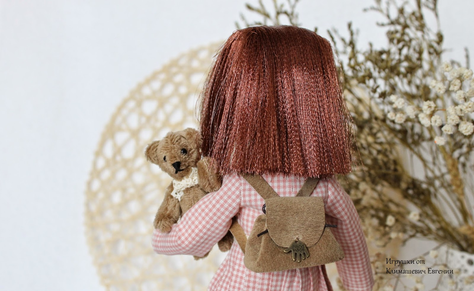 Кукла ручной работы, авторская кукла, текстильная кукла, интерьерная кукла, кукла, мишка, мишка тедди, тедди, мини-мишка