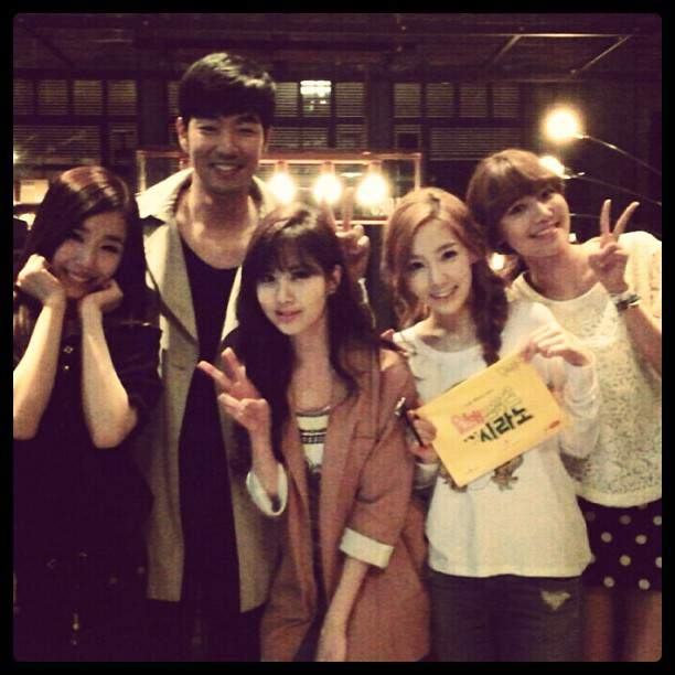Girls' Generation members visit Sooyoung on 'Dating Agency - Cyrano' filming set