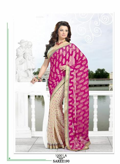 Latest Printed Half Chiffon Saree – Buy Online