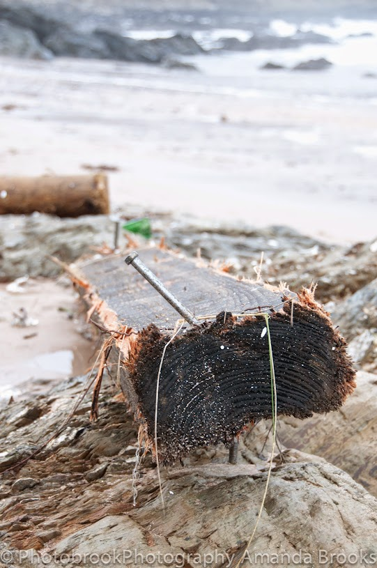 Debris washed up on Cornwall beaches
