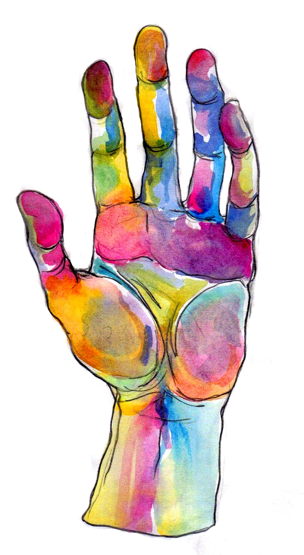 Artisan des arts grade 5 6 hand study for Watercolor paintings of hands