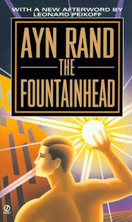 Waar bandnaam Fountainhead vandaan komt - Ayn Rand - Fountain Head - book cover