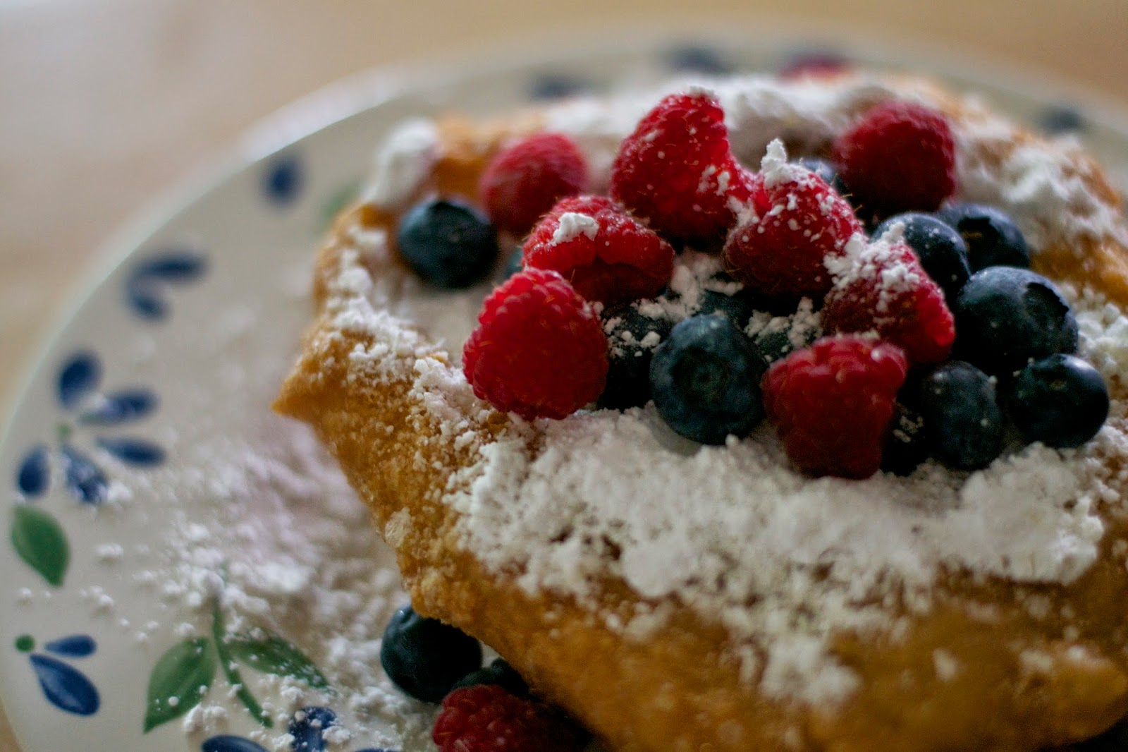 Always time for a homemade fried dough break with fresh, local berries.