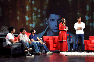 Actress Sushmita Sen & John at Raveena's chat show for NDTV Channel