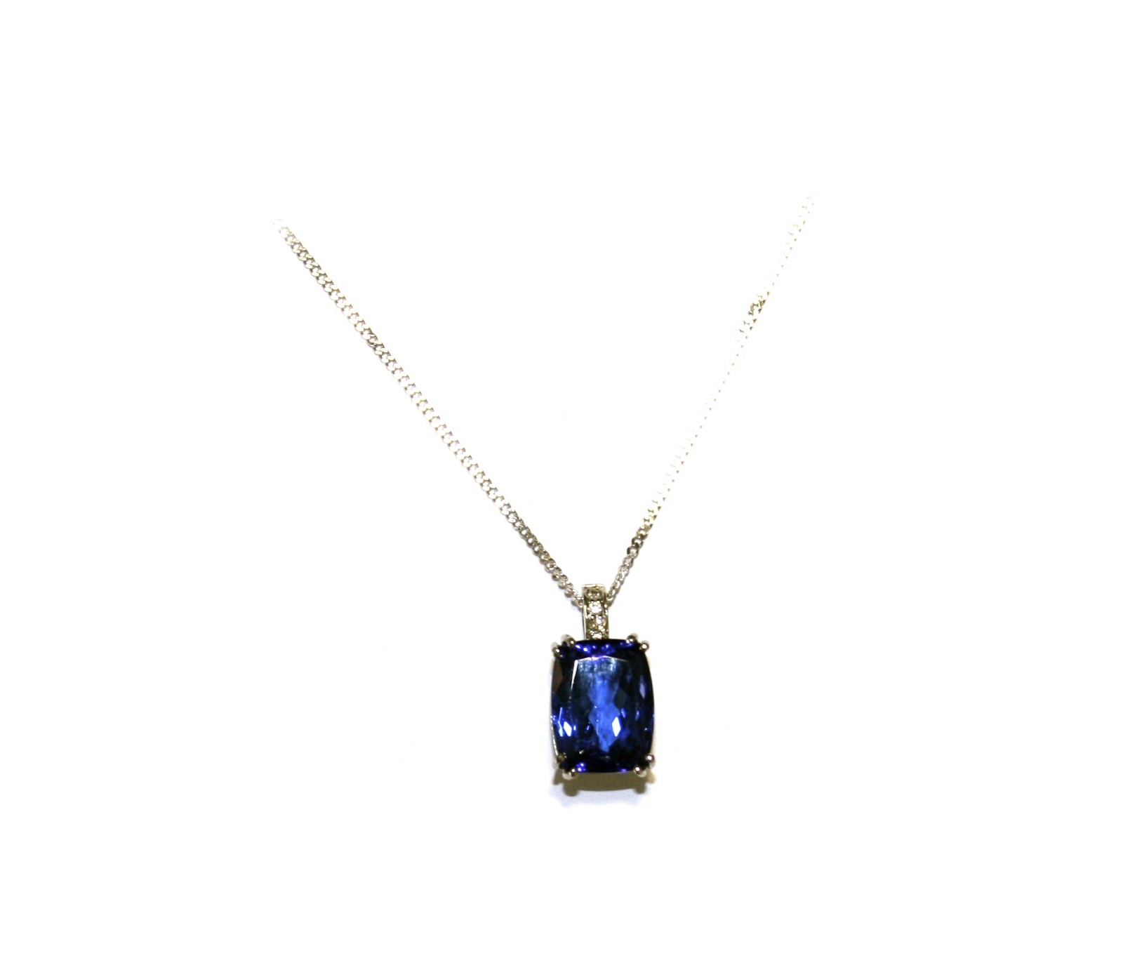 The shelley and harry jewellery collection cushion cut tanzanite cushion cut tanzanite set in 18ct white gold with diamonds aloadofball Gallery
