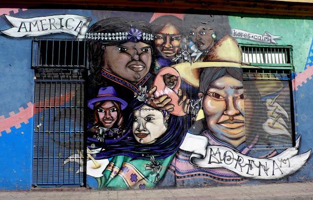 street art in santiago de chile arte callejero america morena