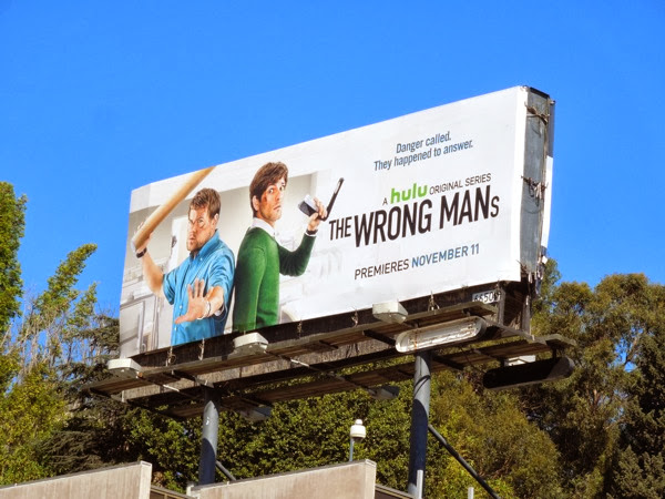 The Wrong Mans Hulu billboard