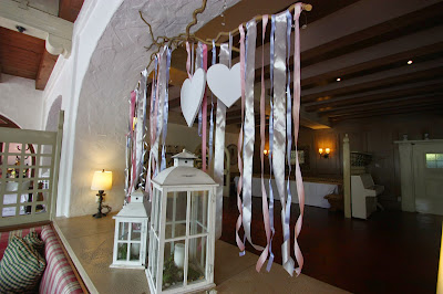 Raumdekoration für die Hochzeit