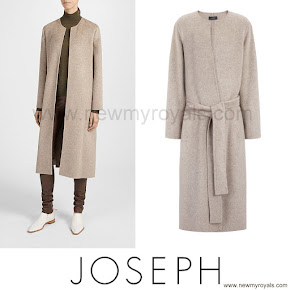 Crown Princess Mary Style JOSEPH Double Cashmere Oslo Coat