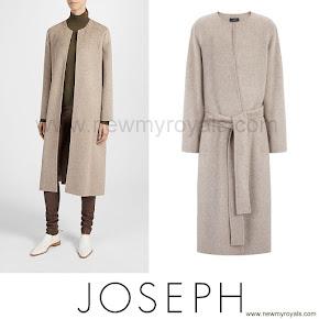 Crown Princess Mary Style JOSEPH Double Cashmere Oslo Coat