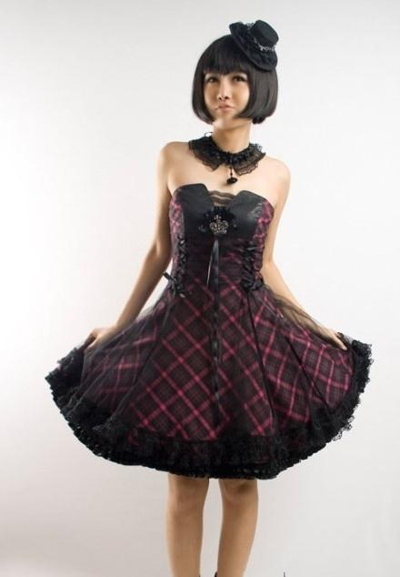 1c422c2674 DevilInspired Gothic Punk Dresses  Strapless Gothic Punk Dresses