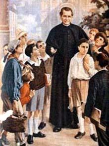 San Giovanni Bosco prega per tuuta la Gioventu' Cattolica