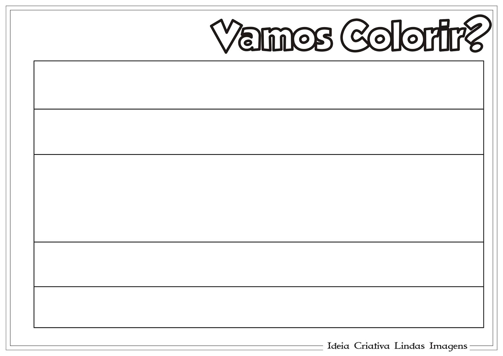 Copa do Mundo 2014 - Grupo D: Bandeira da Costa Rica para colorir