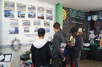 A exposição montada pelos alunos fez sucesso na escola