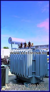 Modificare transformator 1000 kVA 20/6,3kV in 1000kVA 20/0,4kV , modificare raport de transformare , transformatoare 1000 kVA , transformator pret , retimbrari transformatoare , revitalizari transformatoare , reparatie transformator , reparatii transformatoare , Elecmond Electric