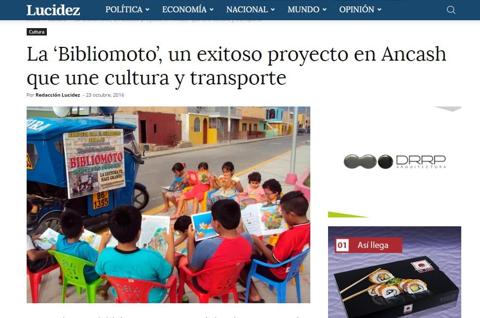 PAGINA WEB LUCIDEZ - ESCRIBE SOBRE NUESTRA BIBLIOMOTO