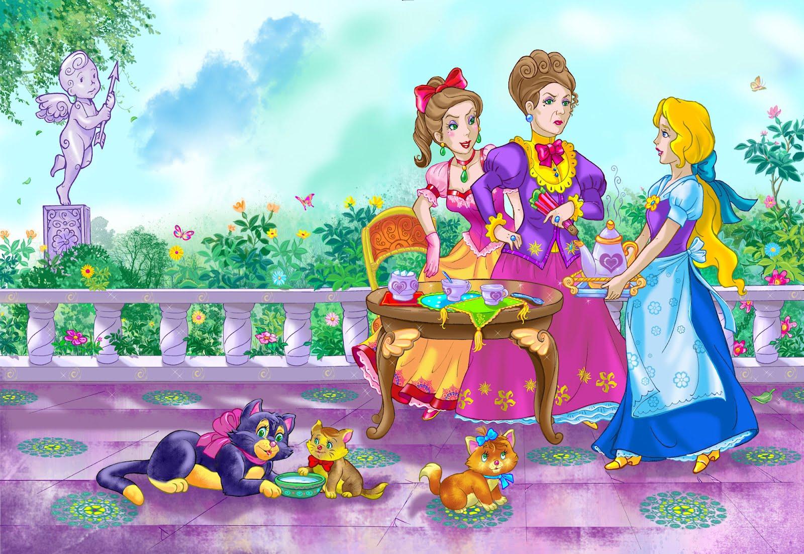 Idool Fondos infantiles con dibujos animados de la cenicienta en ...