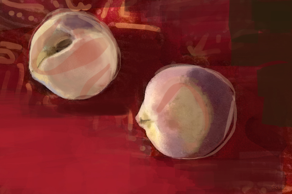 Digital painting with Brushes on iPad