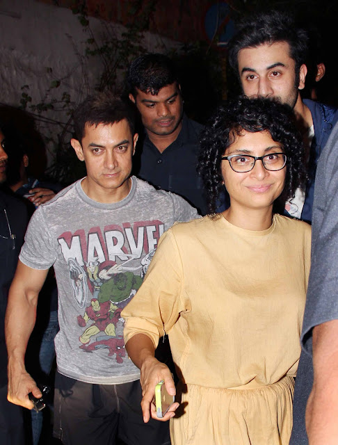 Kiran Rao, Aamir Khan and Ranbir Kapoor
