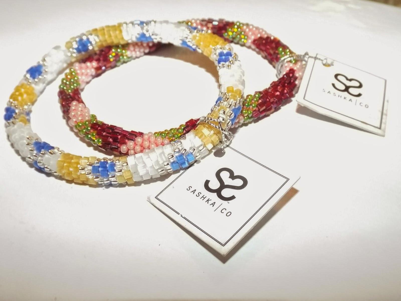 Handbeaded bracelets