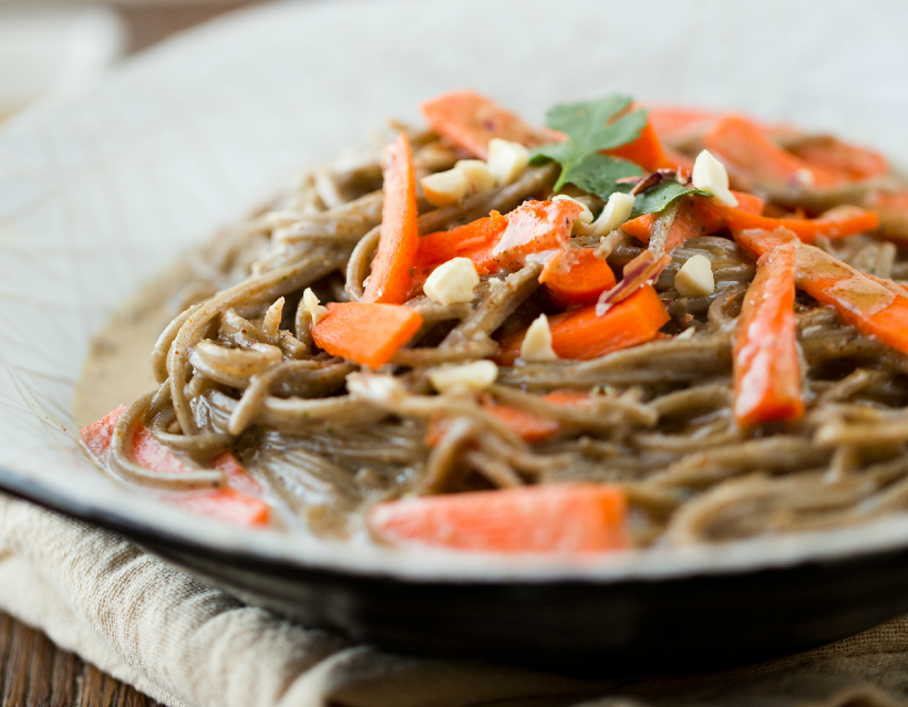 Peanut Soba Noodles from Healthy Happy Vegan Kitchen