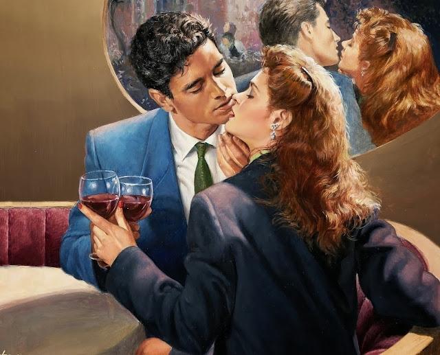 dream of mirrors, ed tadiello, cute painting,