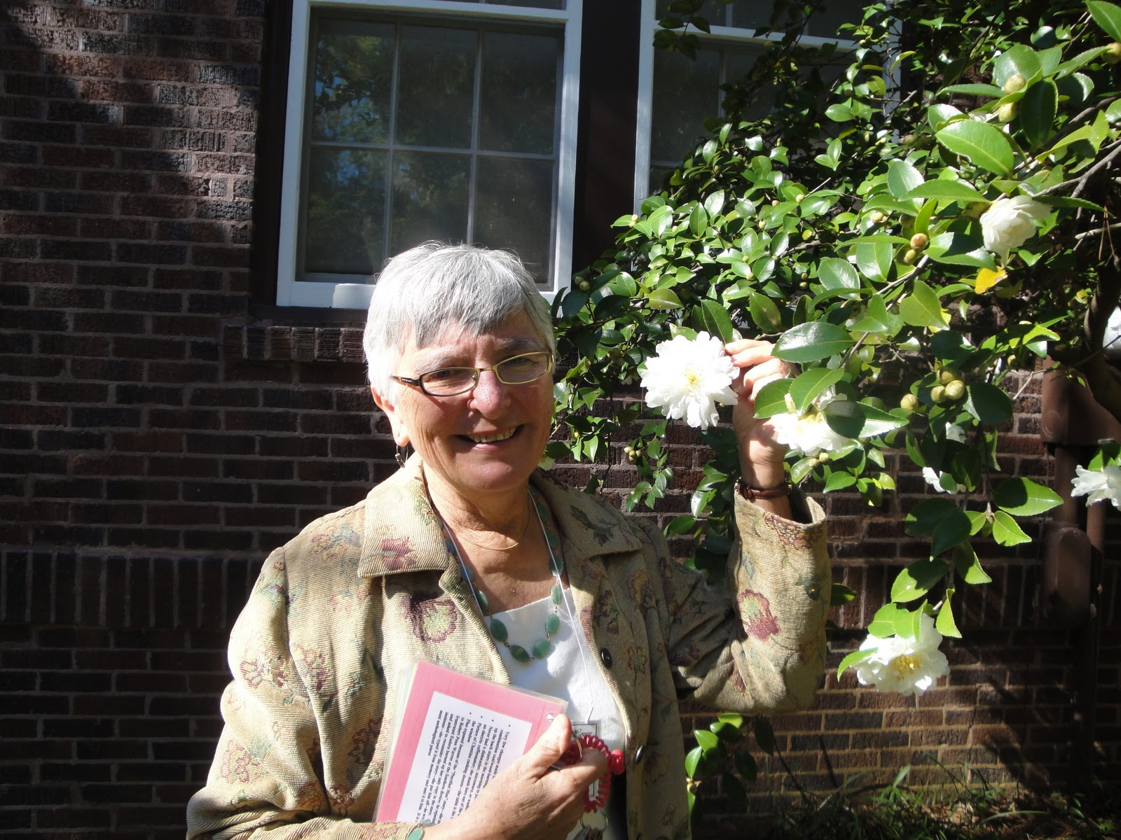 My tour guide at Eudora Welty's house. Ms. Welty loved camellias