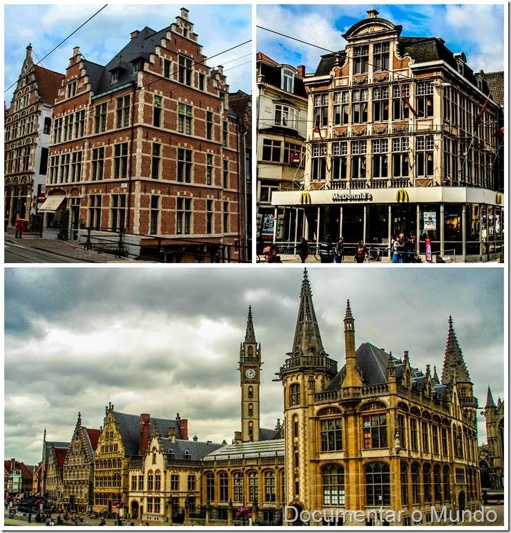 Fachadas de Edifícios Históricos de Gent; Flandres; Bélgica; Gent Top 5; McDonald's Gent (Korenmarkt)