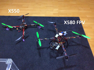 X550 X580 quadcopters comparision