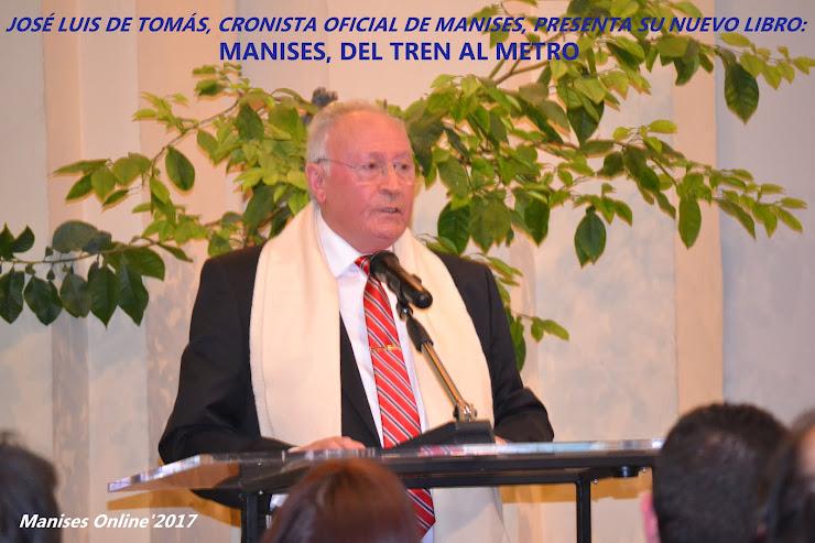 REP 01 JOSÉ LUIS DE TOMÁS, CRONISTE OFICIAL DE MANISES