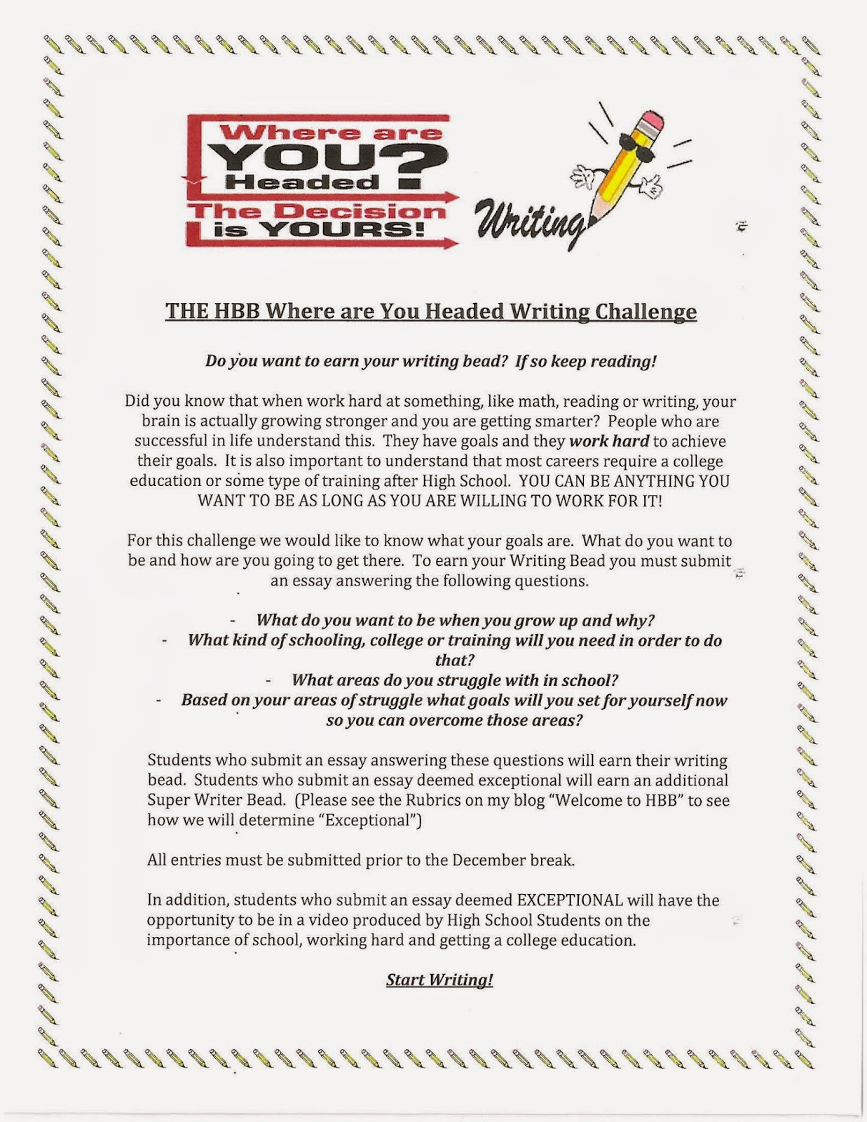 welcome to hbb  writing challenge and some other stuff