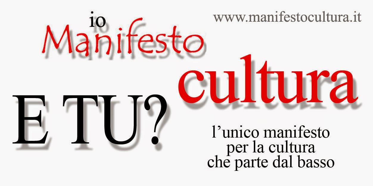 Aderiamo a Manifesto Cultura