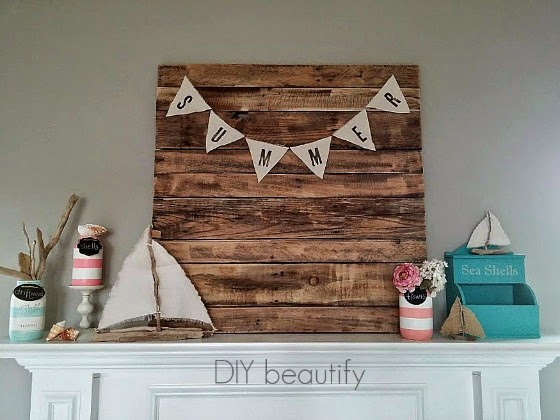 Summer Mantle with Tropical Colors www.diybeautify.com