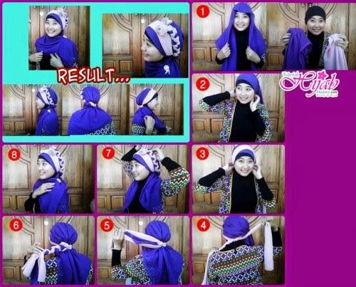 Cara Memakai Jilbab Kreasi untuk Kebaya Wisuda