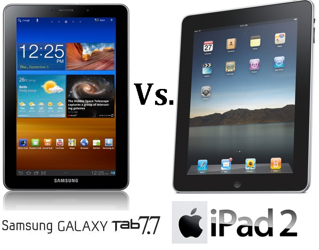 Samsung Galaxy Tab 7.7 Vs Apple iPad 2: Specs & Review Compared