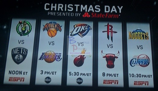 they prepared 5 great match ups for all of us take a look at the nba christmas day 2012 schedule of games below - Christmas Games Nba