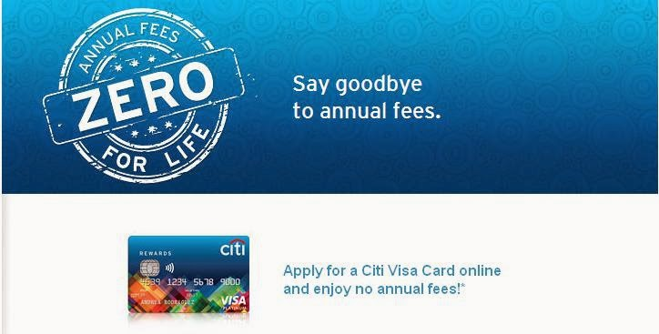Citibank Credit Card Zero Annual Fees For Life, citibank credit card promo
