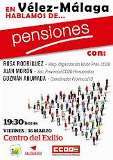 """Charla Coloquio en Vélez-Málaga: """"Hablamos de Pensiones"""""""