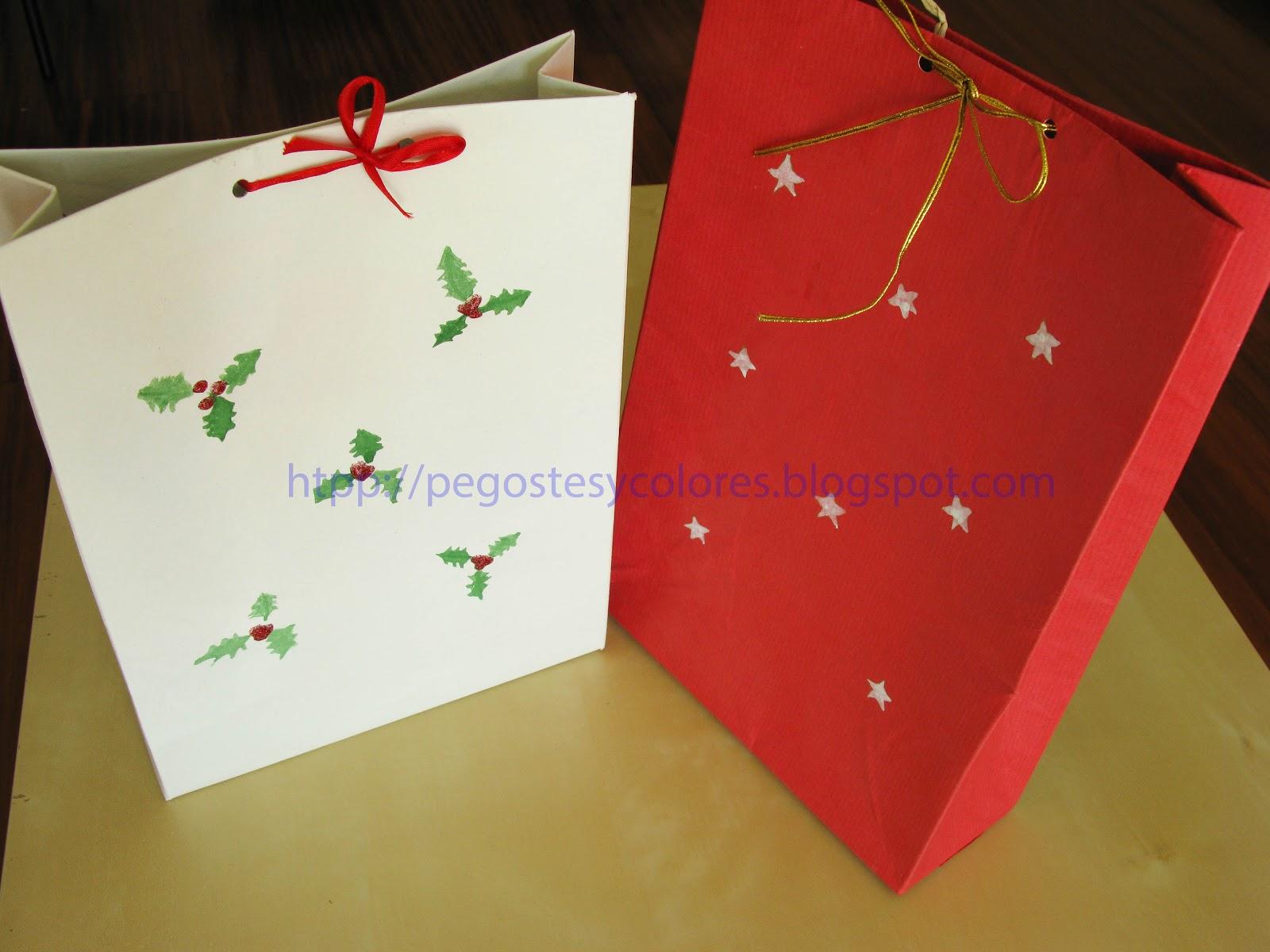 Pegostes y colores como hacer bolsas de regalo para navidad - Como hacer bolsas de regalo ...