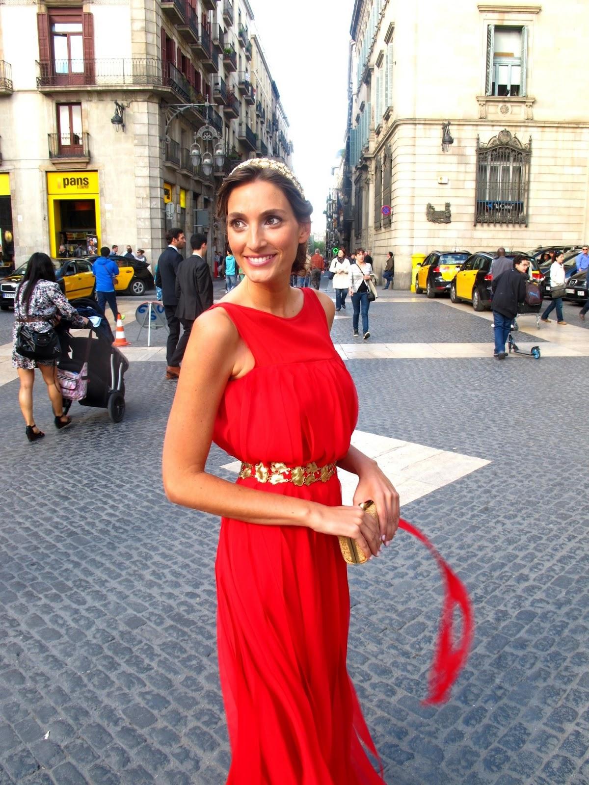 Vestido rojo zara boda